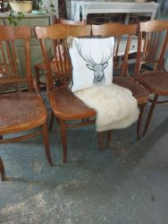 4 vintage chairs for £80