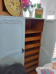 Lovely blue haberdashery drawer cupboard £120   SOLD