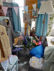 A lovely wee corner with lovely things in it from Standard lamps to Mohair throws