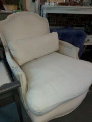 Beautiful French style Laura Ashley Linen chair £150    SOLD