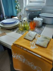 Lovely Square linen table cloth £10