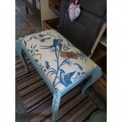 Pretty blue bird stool £20