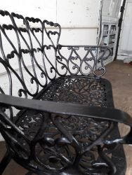 Black bench, there is a very  slight split a the front. £40