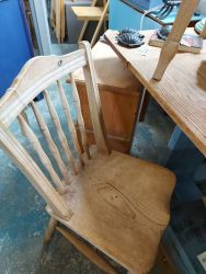 I have 4 lovely old blonde pine chairs at £20 each    SOLD