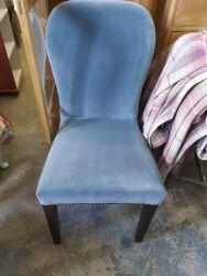 Blue velveteen bedroom chair £18  SOLD