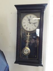 Nice blue cabinet clock - battery operated £20
