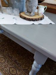 Nice blue/grey farmhouse table with drawer 5ft £130