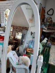 White painted cheval mirror £35