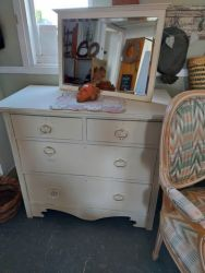 Pretty painted chest £75 SOLD   Mirror £20