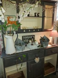 I love this cream and dark grey dresser....135cm long  £140    Splits for removal.    SOLD