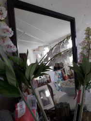 Old dark painted mirror £15