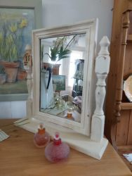Painted dressing table mirror £15