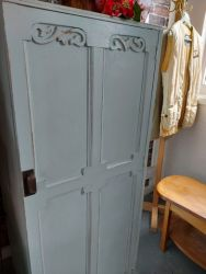 Pretty Duck egg blue small wardrobe with one hanging rail. Perfect for a hall or small room £70