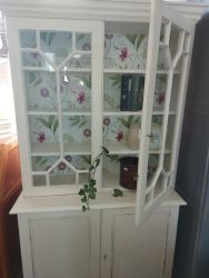 Lovely just finished glazed top cupboard 180cm high by97cm wide by38cm deep.  £140    SOLD