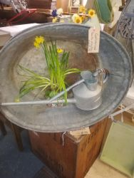 Galvanised Tubs - £18 Each , Tea Chests - £15 Each, Watering Cans - £14 Each    SOLD