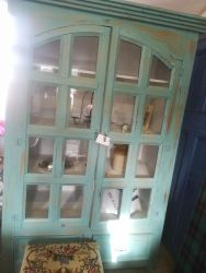 Large, Glazed Front Cupboard 130cm Wide - £295 SOLD