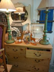 Amazing tall green lamps £30 each    SOLD
