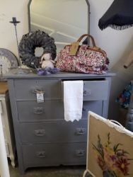 Large painted vintage chest £110