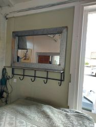 Industrial mirrors with hooks £34
