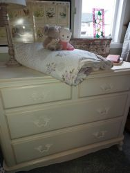 Large cream Laura Ashley chest of drawers 110 by 90cm tall by 50cm deep £85    SOLD