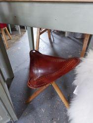 Leather stool £20