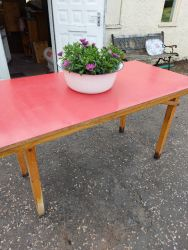 Heavy folding formica top table 130cm by 70cm good in the garden maybe £40