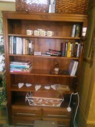 Large Solid Wood Modern Bookcase - £80