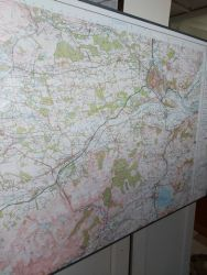 Large Map from Scone  down to Alloa  £20