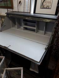 Narrow painted desk/bureau with shelves below £40    SOLD
