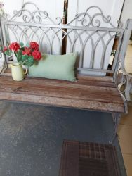 One new bench in metal and wood 120cm  £130  SOLD