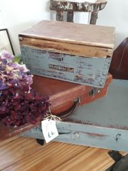 Quite a lot of old pine storage boxes vary in price from £20