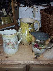 Plenty pretty vintage jugs from £6