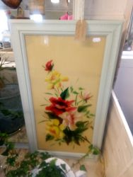 Victorian Painting On Glass - £15