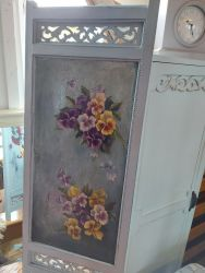 Vintage hand painted panel part...so lovely for the wall £20      SOLD