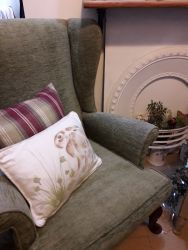 Lovely green Parker Knoll chair in good condition, £75