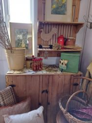 Vintage pine boarded cupboard £120.SOLD   Many vintage items..as usual
