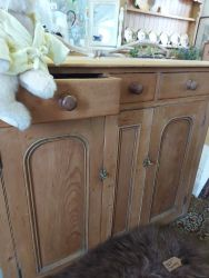 For lovers of old pine ...nice waxed  Pine cupboard   size: 120cm by 53cm  deep.  £170    SOLD