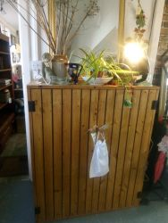 Rustic Stripped Pine Cupboard Shelved Inside - £160  SOLD