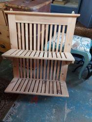 Stripped pine plate rack £75