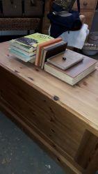 Simple pine box storage £70