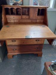 A great old rustic pine bureau £110