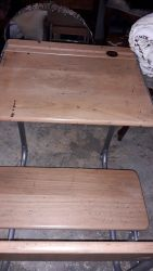 Two lovely kids folding seat desks.  £50 each  ONE LEFT