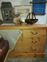 Nice old rustic chest 103cm across by 80cm tall and 50cm deep £85    SOLD