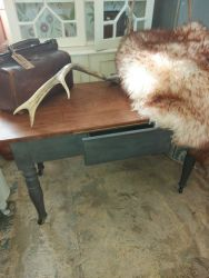 Vintage painted and stripped top sofa table with drawer £45   SOLD  105cm by 60cm high by 50cm deep