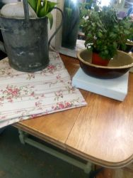 Stripped Top Barley Twist Side Table (Not As Tall As A Dining Table)- £35