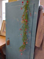 Tall blue shelved  cupboard...very useful £85