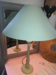 Tall Lamp & Shade - £10