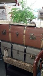 Two large renovated trunks  £35 and £30
