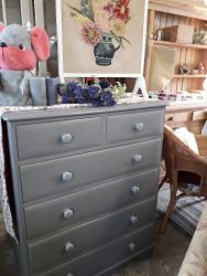 Large, painted two over 4 chest £110
