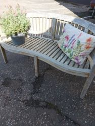 Lovely weathered garden bench, heavy, good quality £150   SOLD